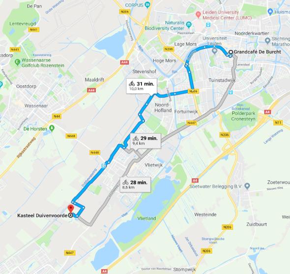 Google maps kasteel Duivenvoorde