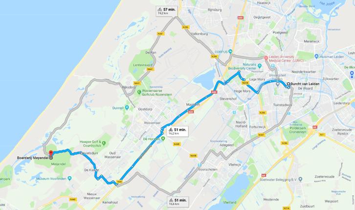 Google maps Meijendel