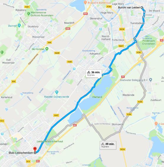 Google maps Sluis Leidschendam