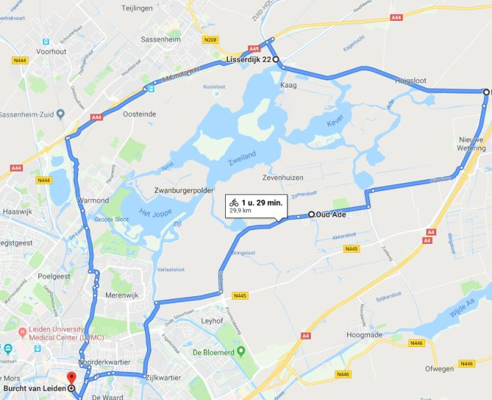 Google maps rondje Kaag